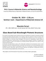 Glass-Based Sub-Wavelength Photonic Structures