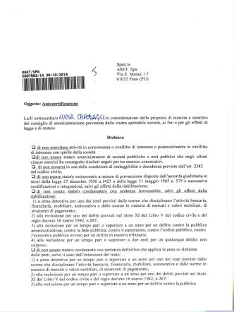 CV e Dichiarazione Ing. Lucia Capodagli (Presidente)