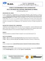 S.int. S.r.l. Unipersonale CORSO DI AGGIORNAMENTO PER