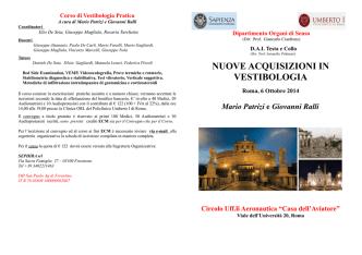 Corso di Vestibologia