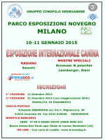 Programma Esposizione Internazionale Canina di Novegro (MI) 2015
