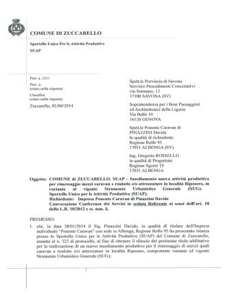 2014-04-01 Avviso SUAP - Comune di Zuccarello