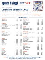 Calendario Editoriale 2015
