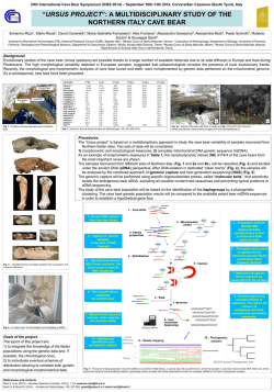 """ursus project"": a multidisciplinary study of the"