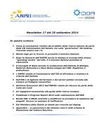 Newsletter 17 del 25 settembre 2014
