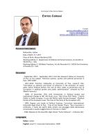 Enrico Calossi - European University Institute
