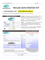 Manuale Utente WebOrder ELFI