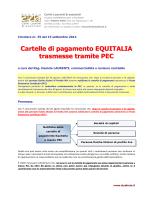 CRC 35_2014 Cartelle di pagamento EQUITALIA