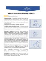 Manuale di uso e manutenzione del vetro