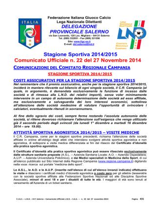 c.u. 22 - FIGC