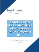 regolamento IUC - Comune di Arienzo