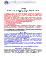 AVVISO - Università degli studi di Bergamo