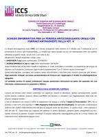 Scheda informativa terapia anticoagulante orale