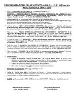 PROGRAMMAZIONE DELLE ATTIVITÀ A.I.M.C. / I.R.C. di Pinerolo