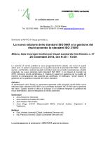 La nuova edizione dello standard ISO 9001 e la gestione dei rischi