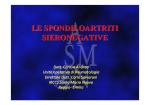 LE SPONDILOARTRITI SIERONEGATIVE