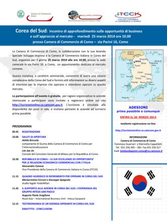 Corea del Sud - Camere di Commercio