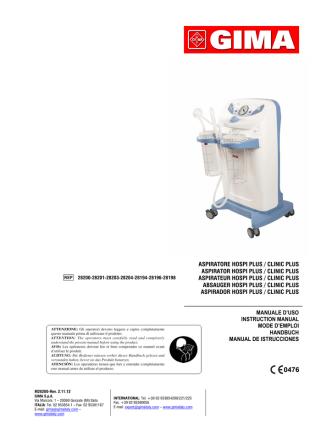 aspiratore hospi plus / clinic plus aspirator hospi plus / clinic plus