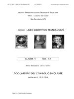 DOCUMENTO DEL CONSIGLIO DI CLASSE - ISISS
