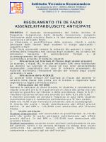 Istituto Tecnico Economico REGOLAMENTO ITE DE FAZIO