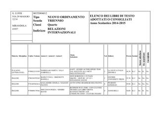 Classi quarte ITE RIM a.s.2014-15