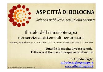 """and """"music therapy"""" - ASP Città di Bologna"""
