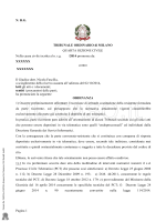 Pagina 1 N. R.G. TRIBUNALE ORDINARIO di MILANO