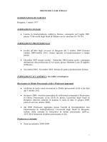 Curriculim vitae aggiornato - Università degli studi di Bergamo