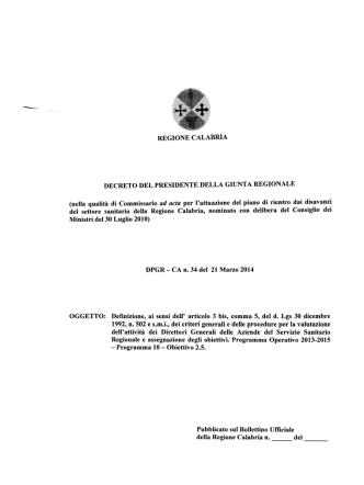 D.P.G.R. n.34 del 21.03.2014 -Definizione, ai