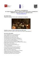 Circolare - Centro Internazionale di Semiotica e Linguistica