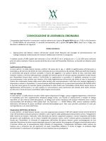 CONVOCAZIONE DI ASSEMBLEA ORDINARIA