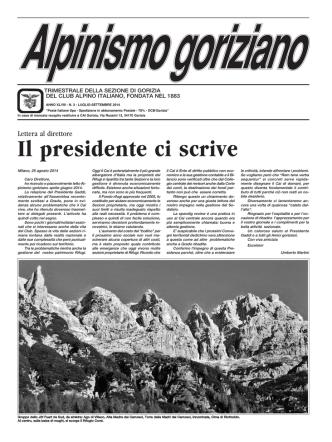 Alp Gor n° 3 2014 - CAI sezione di Gorizia