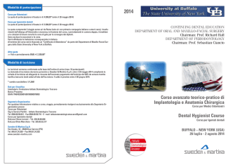 Corso avanzato teorico-pratico di Implantologia e Anatomia