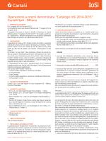 Regolamento Catalogo IoSi