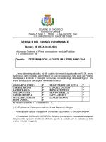 Delibera approvazione aliquote IMU 2014