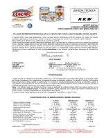 SCHEDA TECNICA - Industria Chimica General