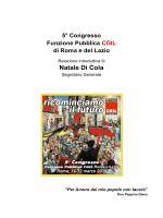 """""""La Relazione"""" in formato Pdf - CGIL Funzione Pubblica Roma e Lazio"""