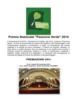 """Premio Nazionale """"Passione Verde"""" 2014"""