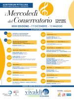 La locandina - Conservatorio Antonio Vivaldi