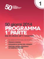 programma 1 parte - 50 Giorni di Cinema