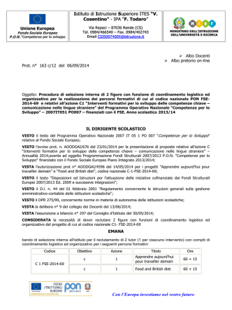 BANDO COORDINATORE C1 LINGUE - IIS