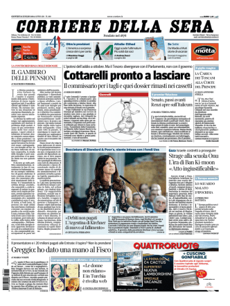 Corriere della sera - 31.07.2014