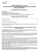 FOGLIO INFORMATIVO n. 01/2014 PER
