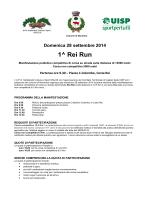 Domenica 28 settembre 2014 1^ Rei Run