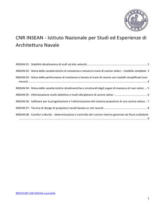 CNR INSEAN - Istituto Nazionale per Studi ed