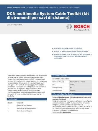 DCN multimedia System Cable Toolkit (kit di strumenti per cavi di
