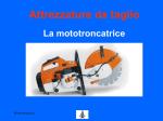 Utilizzo Mototroncatrice
