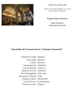 Dies Natalis Gaetano Donizetti - 29.11.2014