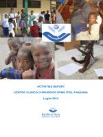 ACTIVITIES REPORT CENTRO CLINICO CHIRURGICO OPBG ITIGI