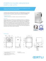 PomPa di calore aria/acqua oertli liN 11teS